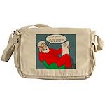 Santa's Bad List Messenger Bag