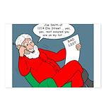 Santa's Bad List Postcards (Package of 8)