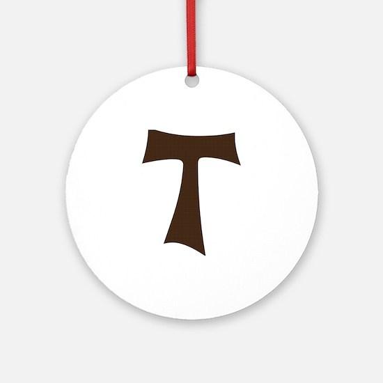 Tau Cross or Crux Commissa Ornament (Round)