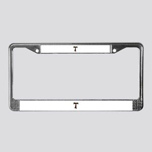 Tau Cross or Crux Commissa License Plate Frame