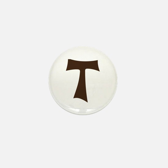 Tau Cross or Crux Commissa Mini Button