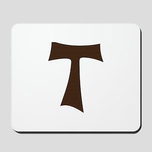 Tau Cross or Crux Commissa Mousepad
