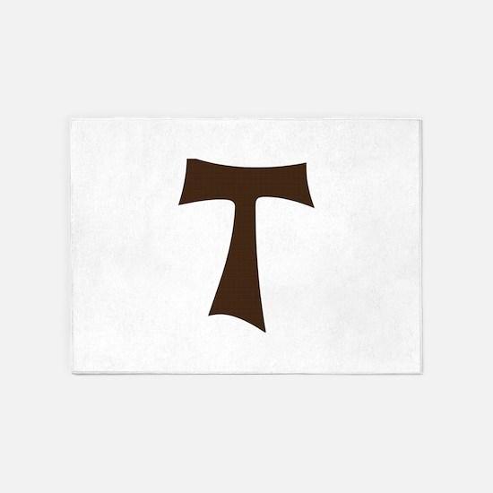 Tau Cross or Crux Commissa 5'x7'Area Rug