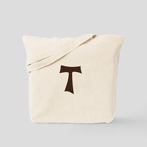 Tau Cross or Crux Commissa Tote Bag