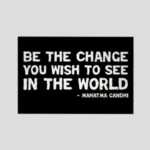 quote_gandhi_change_sticker Magnets