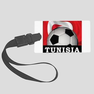Tunisia Football Large Luggage Tag