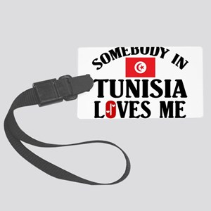 Somebody In Tunisia Large Luggage Tag