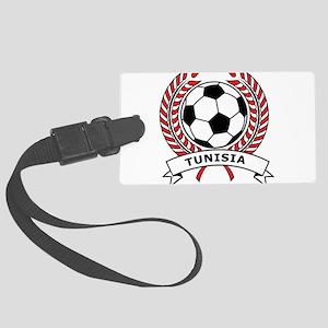 Soccer Tunisia Large Luggage Tag