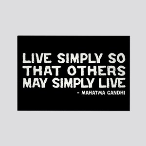 Quote - Live Simply Rectangle Magnet