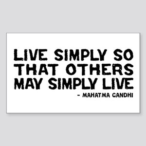 Quote - Live Simply Sticker (Rectangle)