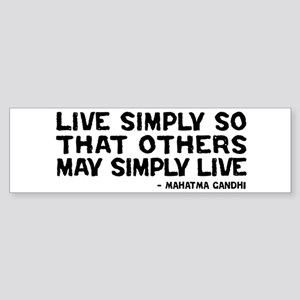 Quote - Live Simply Sticker (Bumper)