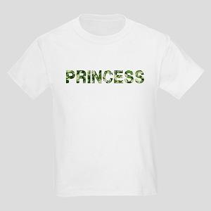 Princess, Vintage Camo, Kids Light T-Shirt