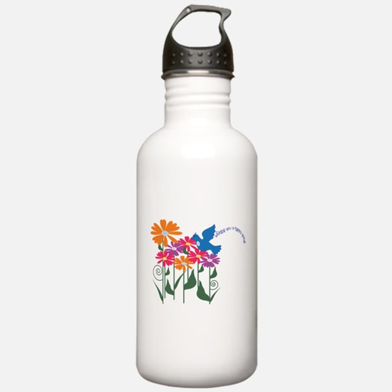 Happy Spring Flower Water Bottle