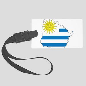 Map Of Uruguay Large Luggage Tag
