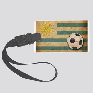 Vintage Uruguay Football Large Luggage Tag