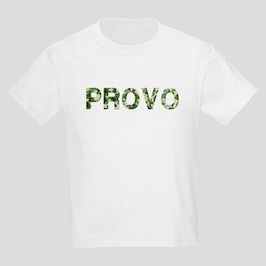 Provo, Vintage Camo, Kids Light T-Shirt
