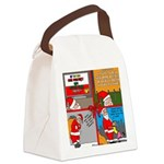 Santa Gets No Respect Canvas Lunch Bag