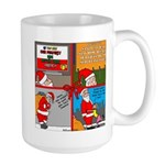 Santa Gets No Respect Large Mug