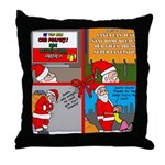 Santa Gets No Respect Throw Pillow