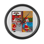 Santa Gets No Respect Large Wall Clock