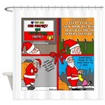Santa Gets No Respect Shower Curtain