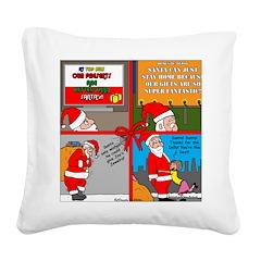 Santa Gets No Respect Square Canvas Pillow