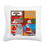 Santa Gets No Respect Square Canvas Pillow