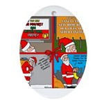 Santa Gets No Respect Ornament (Oval)