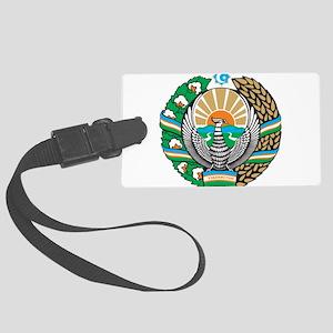 Uzbekistan Coat Of Arms Large Luggage Tag