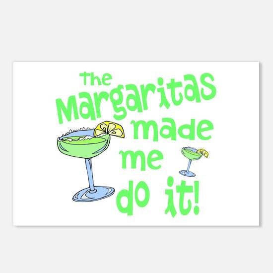 Margaritas made me Postcards (Package of 8)