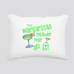 Margaritas made me Rectangular Canvas Pillow