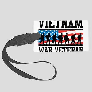Vietnam War Veteran Large Luggage Tag