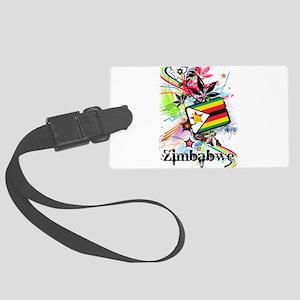 Flower Zimbabwe Large Luggage Tag