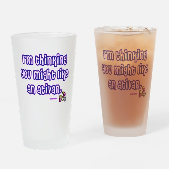 Funny Medication Drinking Glass