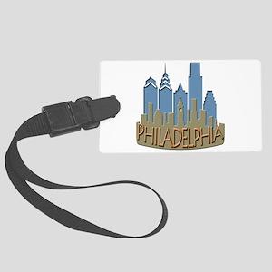 Philly Skyline Newwave Beachy Large Luggage Tag