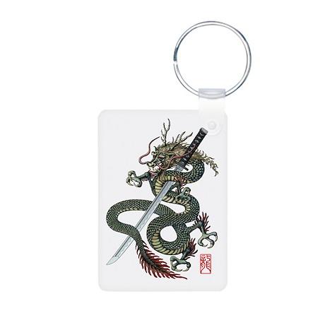 Dragon katana Aluminum Photo Keychain