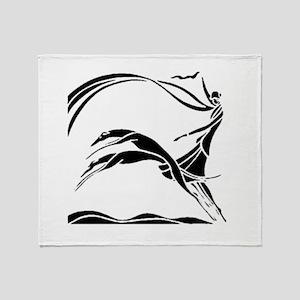 Femme et Chiens Throw Blanket