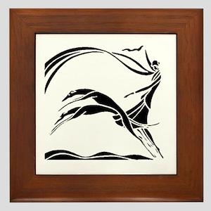 Femme et Chiens Framed Tile