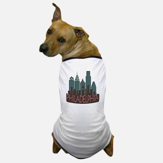 Philly Skyline Newwave Chocolate Dog T-Shirt