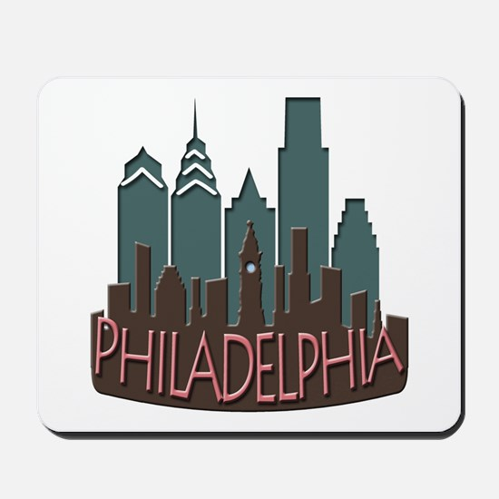 Philly Skyline Newwave Chocolate Mousepad