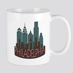 Philly Skyline Newwave Chocolate Mug