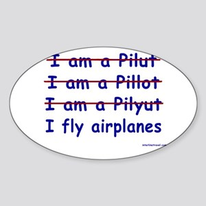 I Fly Airplanes Rectangle Sticker
