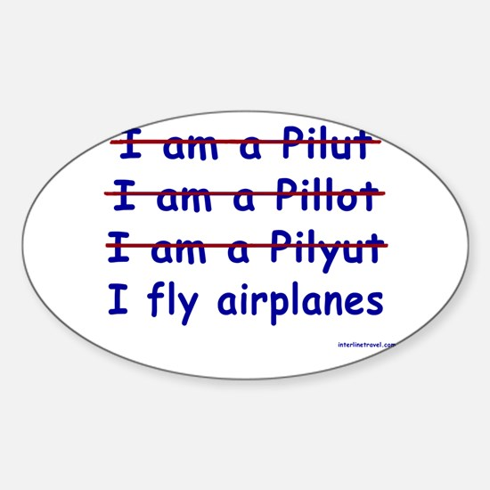 I Fly Airplanes Rectangle Decal