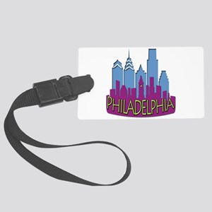 Philly Skyline Newwave Cool Large Luggage Tag