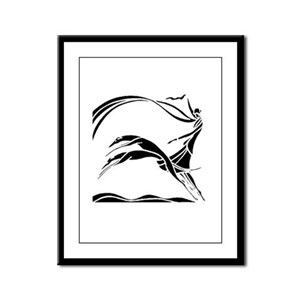 Femme et Chiens Framed Panel Print
