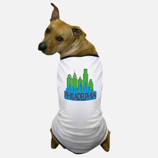 Philly Skyline Newwave Primary Dog T-Shirt