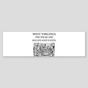 west virginia Sticker (Bumper)