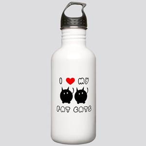 i love my fat cats Stainless Water Bottle 1.0L