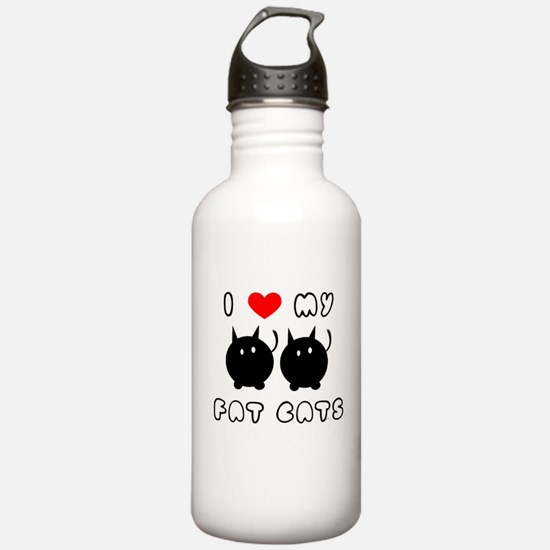 i love my fat cats Water Bottle