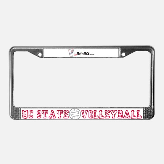 UC State Volleyball License Plate Frame